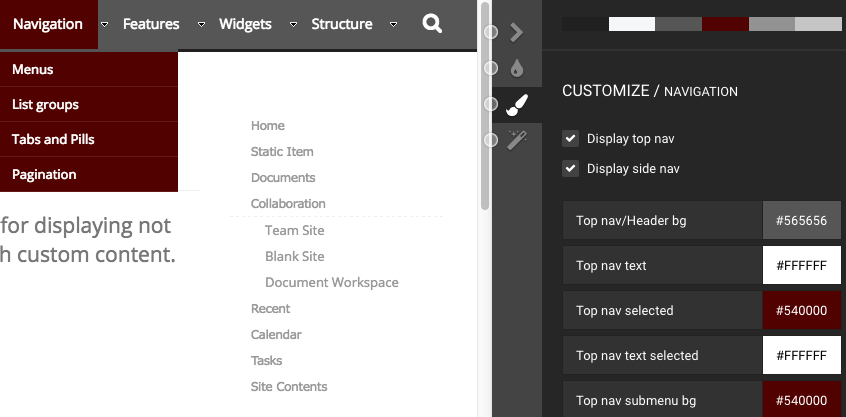 BindTuning basic bootstrap theme in SharePoint Online